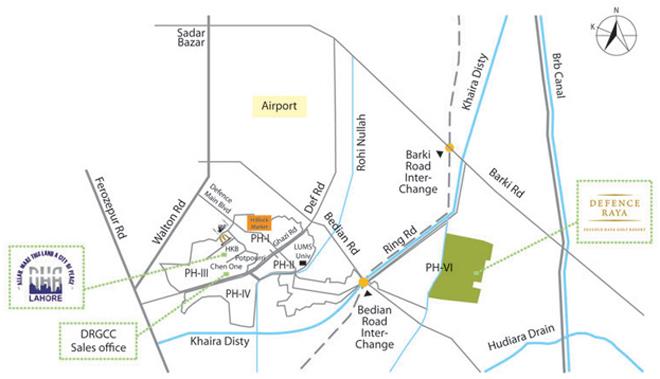 defence raya location map