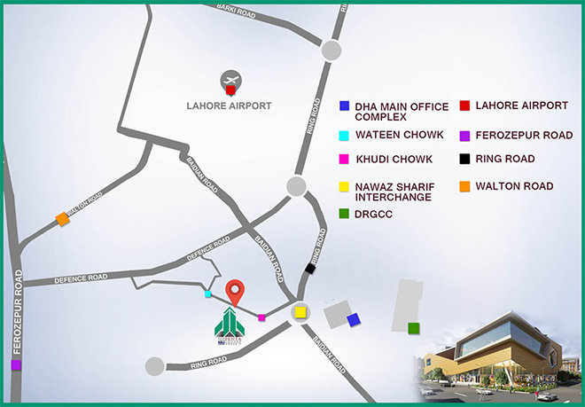 DHA Penta Square Location Map