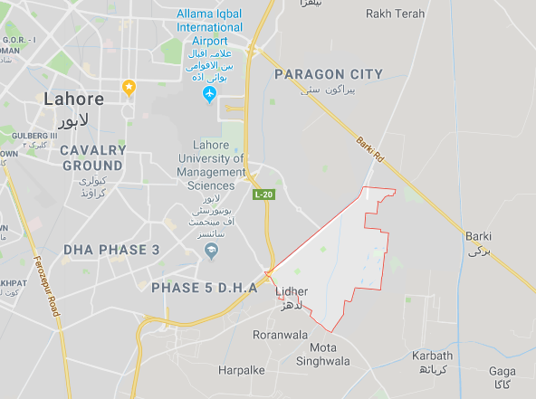 DHA Phase 6 Location
