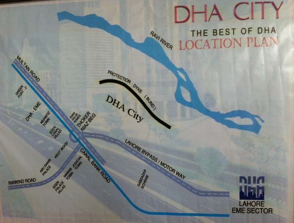 DHA City Lahore Phase 13 Location