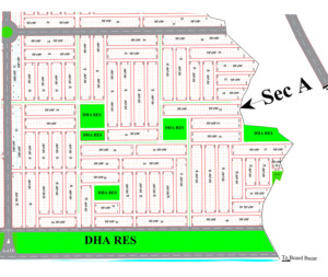 DHA Peshawar Sector A Map
