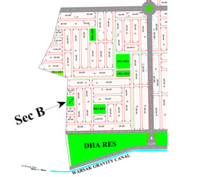 DHA Peshawar Sector B Map