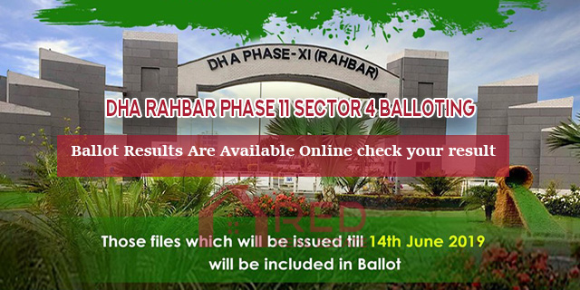 DHA Rahbar Phase 11 Sector 4 Balloting Results – Master Plan Check Online