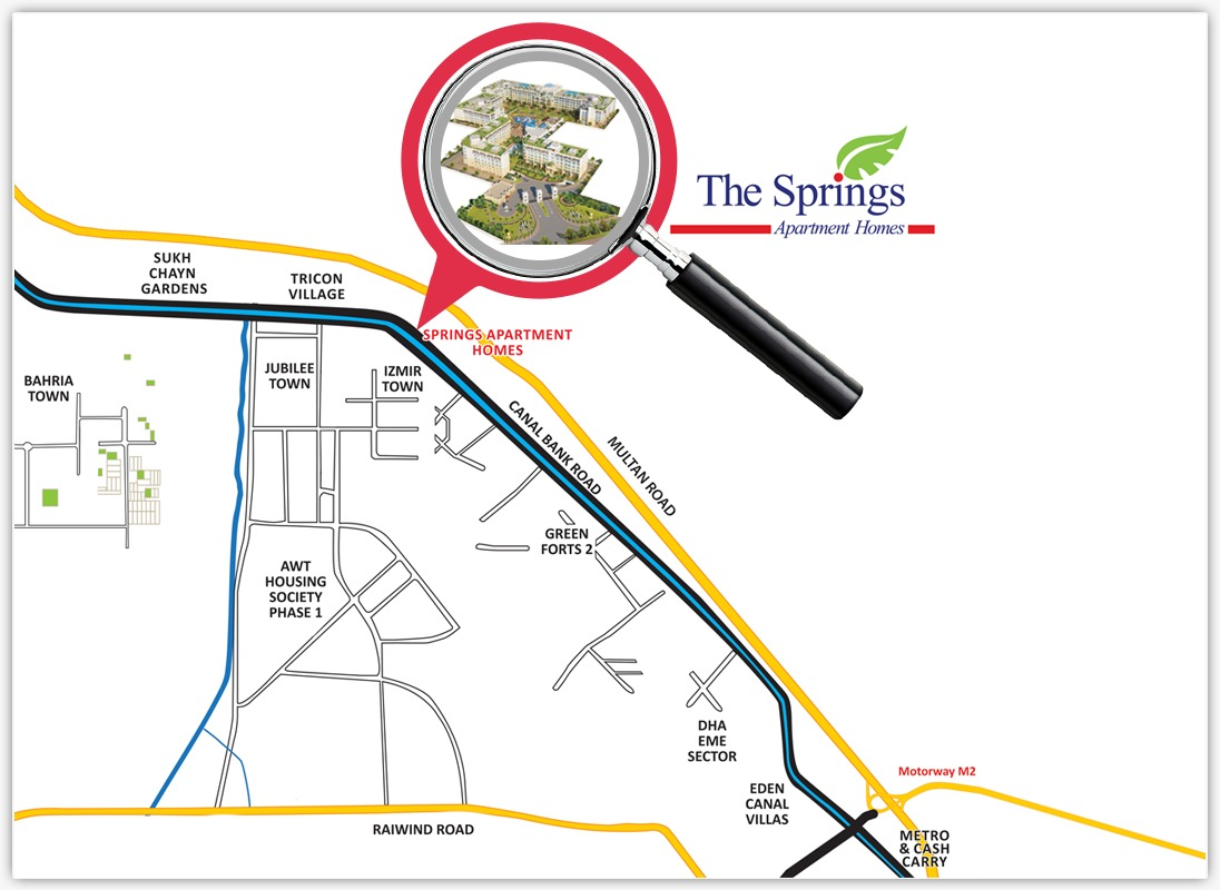 The Springs Apartment Homes Location Map