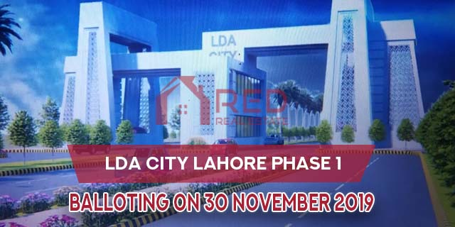 LDA City Lahore Officially Announced Balloting will be held on 30th Nov 2019