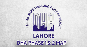 DHA Phase I & 2 Map