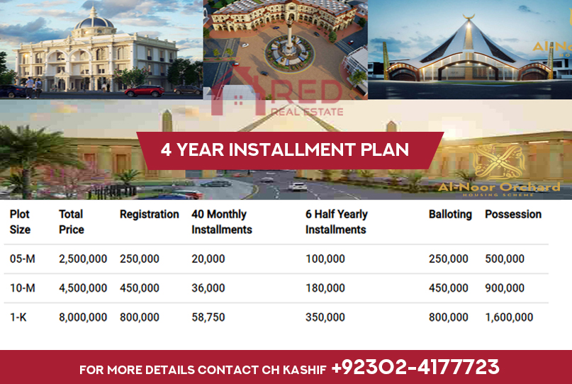 Al Noor Orchard Housing Scheme Payment Plan