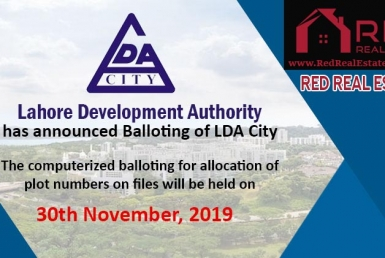 LDA City Lahore Balloting Result 2019