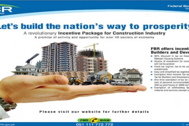 FBR provides incentives for builders and developers May 2020