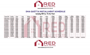 DHA Quetta Installment Schedule (For Filer)