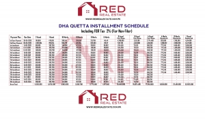 DHA Quetta Installment Schedule (For Non-Filer)