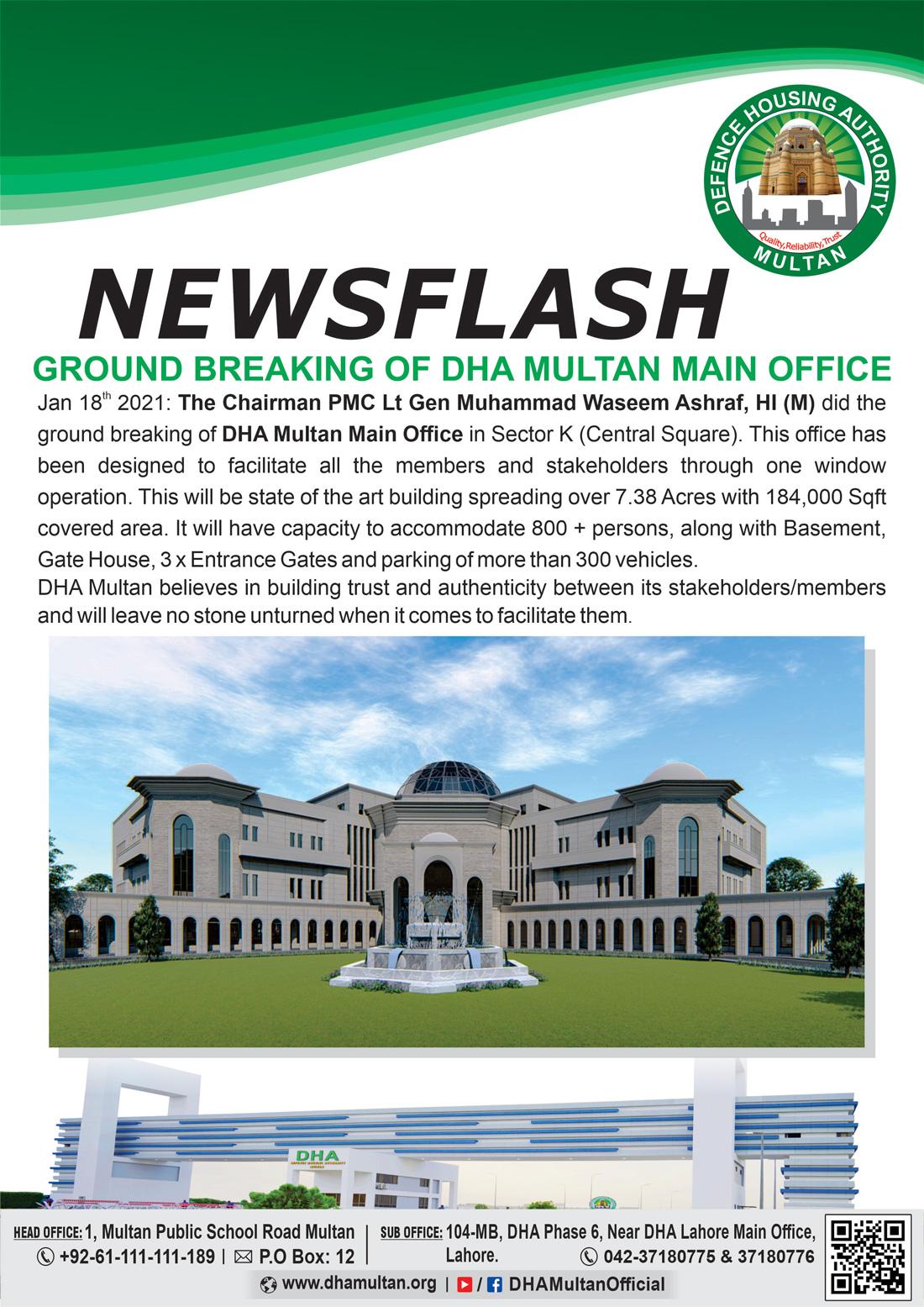 DHA Multan Ground Breaking of Main Office